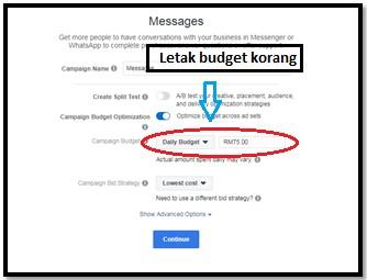 Cara-cara untuk setup messenger ads di Facebook 5