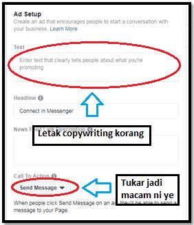 Cara-cara untuk setup messenger ads di Facebook 10